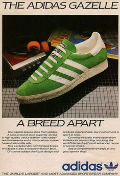 Vintage Adidas ad (check out the sweet Walkman in the background) - Gazelle Adidas - Ideas of Gazelle Adidas - Vintage Adidas ad (check out the sweet Walkman in the background) Adidas Vintage, Vintage Sneakers, Vintage Shoes, Vintage 70s, Adidas Gazelle, Sneakers Mode, Sneakers Fashion, Nike Cortez, Women's Shoes
