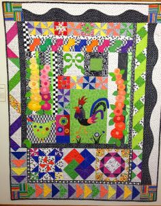 Humble Quilts: Third Friday at Quiltworks! - love the unique layout and bright colors