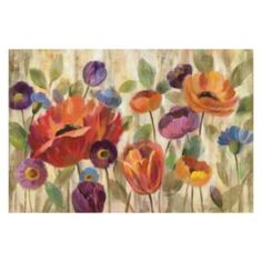 Floral Canvas Wall Art side office option - smaller scale (next to desk or on small wall