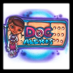 Disney Inspired Doc Mcstuffins Airbrushed Tee by DeezCreationz, $12.99