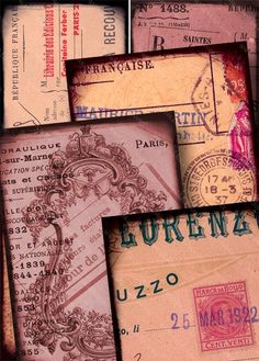 All kinds of rare, vintage French receipts, stamps, and other ephemera make up this collage sheet, mostly from the late 1800s and early 1900s, by piddix. - digital inspiration