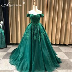 Real Samples Luxury Off The Shoulder Heavy Beaded Lace Ball Gown Evening  dresses Prom Gowns vestidos de baile ballkleider 8bbc8fe58916