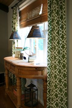 So Happy to be Here: Target Green Tablecloth Curtains!
