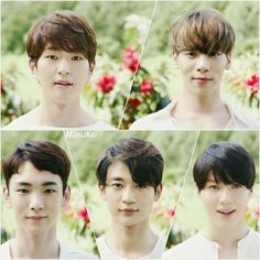 SHINee - (Top) (Left to Right) Onew, Jonghyun (Bottom) Key, Minho, Taemin