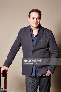 News Photo : Actor Brendan Fraser poses for a portrait during...