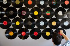 Photobooth Factory // Record Wall | Lovely Indeed