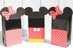 Minnie & Mickey Mouse Treat Bags by RockPaperScissorsCPG on Etsy