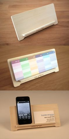 Add a cute element to your desktop, bookshelf, or windowsill with this minimalistic Wood Cradle! Want! >.<