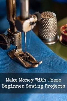 Learn to sew a simple cloth bag, an apron and a pillowcase to make some extra money! #sidehustle #makemoney #crafting #sewing #sewingprojects