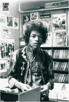 Jimi Hendrix Photo Used As the Official Poster for 6th Annual Record Store Day