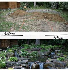 Pond Design, Landscape Design, Bonsai, Garden Crafts, Water Garden, Water Features, Garden Inspiration, Stepping Stones, Drown