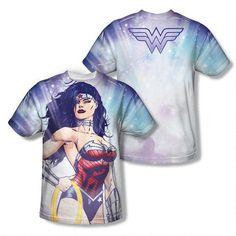 WW allover print warrior goddess shirt