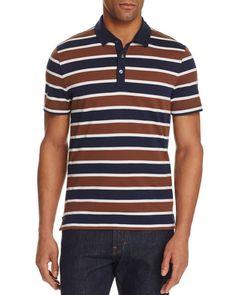 Michael Kors Towel Stripe Slim Fit Polo Shirt