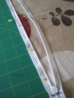 How to sew an invisible zipper into a pillow.  Handy reference b/c dag nab it, I can never remember.