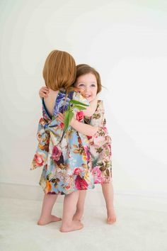 Sweet floral dresses by La Pitchoune for summer 2014 dressed up girls