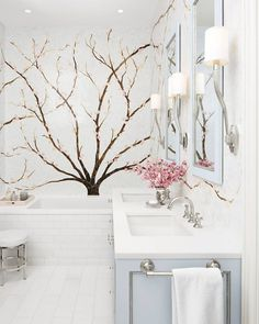 """9,741 Likes, 73 Comments - House Beautiful (@housebeautiful) on Instagram: """"Cherry blossoms here, there and everywhere!(: @markweinbergnyc 