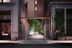 An Alley Entrance for a NoHo Condo