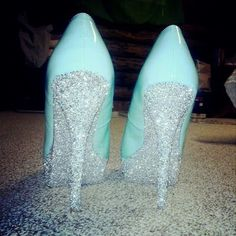 I have a pair of black pumps with ratty-looking heels. They could use some glitter.