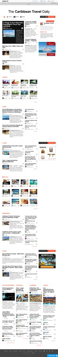 The Caribbean Travel Daily is out! ~ Oct. 19, 2013 ▸ Read the top stories today! Please subscribe and share! Thank you! Top Stories Today, Caribbean, Travel, Viajes, Destinations, Traveling, Trips