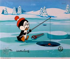 chilly willy hes frozen through and through his head is hot and his feet are cold ha hee achoo