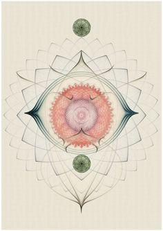 Geometric art by Cristian Boian Sacred Geometry Art, Sacred Art, Geometry Tattoo, Willem De Kooning, Vladimir Kush, Gil Elvgren, Illustrations, Illustration Art, Spirograph Art