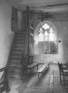 """Didmarton Parish Church, Gloucestershire"" by Edwin Smith, 1961"