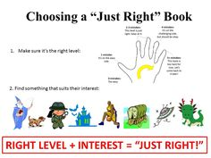 Choosing a Just Right Book to Read.  Have mini book clubs/book talks with your kids! (Get two copies, read same book)