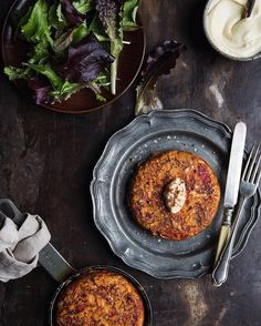 If you need dinner inspiration, the recipe for these Piquillo pepper and paprika tortillas are in this months issue of Vegetarian Living magazine serve with a green salad and a spoonful of aioli. Beautiful food and styling @kathryn_bruton 📸 me 😊
