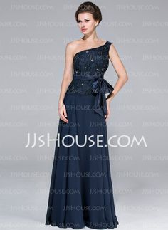 Mother of the Bride Dresses - $148.99 - A-Line/Princess One-Shoulder Floor-Length Chiffon Charmeuse Mother of the Bride Dress With Lace Beading (017025451) http://jjshouse.com/A-Line-Princess-One-Shoulder-Floor-Length-Chiffon-Charmeuse-Mother-Of-The-Bride-Dress-With-Lace-Beading-017025451-g25451