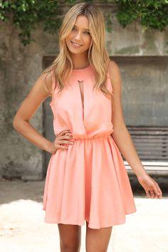 Fall Dress - Apricot
