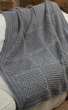 [Free Crochet Pattern] This Wonderful Checkerboard Throw Is Perfect For Those Who Like To Learn New Stitch Patterns