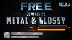 Free Lowerthirds Metal & Glossy News Templates in Mov Format