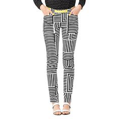 {Slightly obsessed} Utility Pocket Pant in Signature Zig Zag - Kate Spade Saturday