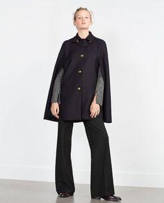 METALLIC BUTTON CAPE-Coats-Outerwear-WOMAN | ZARA United States