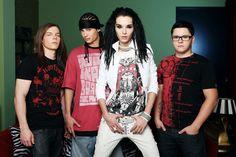 Tokio Hotel: Bill Kaulitz, Tom Kaulitz, Georg Listing, Gustav Schäfer. Love them so much. <3