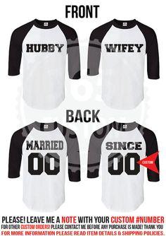 Married Since  Raglan (Baseball Tee) Couple Shirts SET OF 2