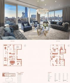 This luxury penthouse is situated atop the Landmark Place building located on Lower Thames Street in London, England, UK. Penthouse London, Luxury Penthouse, Penthouse Apartment, London Apartment, Luxury Condo, London Landmarks, Pent House, Plan Design, Home Plans
