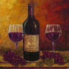 Grape Wine Paintings 01 A (Chardonnay by John Park)