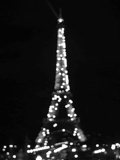Sparkling Lights on the Eiffel Tower black and white france lights paris eiffel tower gif sparkle