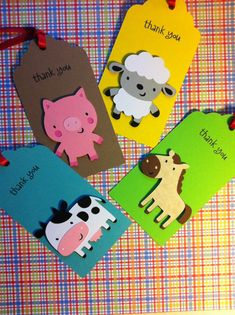 BarnYard / Farm Favor Tags by handmadewithlovnessa on Etsy Farm Animal Party, Farm Animal Birthday, Barnyard Party, Farm Birthday, Farm Party, 2nd Birthday Parties, Barn Parties, Handmade Gift Tags, Farm Theme