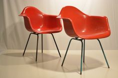 Pair of Herman Miller Eames Arm Chair Shells with by JCModern