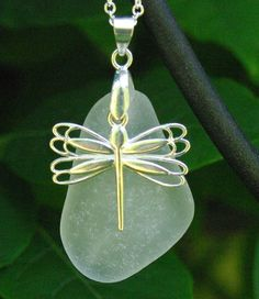 Sea Glass Necklace.. A Dragonfly Dreams reserved for lunargecko