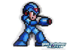 Mega Man X Perler Bead Sprite Pixel Art by GeekMythologyCrafts