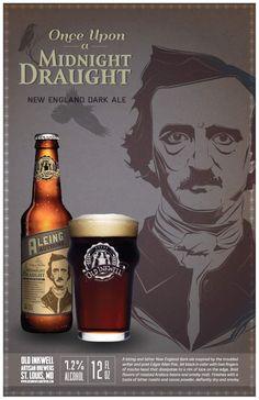 Edgar Allen Poe Craft Beer posters