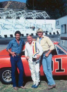 Bo Duke, Luke Duke, and Cale Yarborough. :)