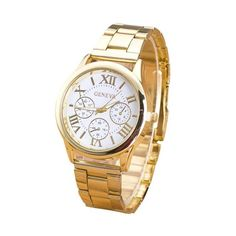 Clock Watch Women Roman Numerals Quartz Gold Stainless Steel Wrist Band Luxury Casual Watches Relogio Feminino High Quality