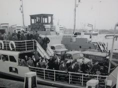 1950's. Ferry IJveer 12. An image from the past – before the IJtunnel - when cars were allowed on the ferry across the river Het IJ. This ferry still had a wooden control cabin. #amsterdam #1950 #HetIJ