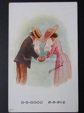 Cynicus: Love & Romance, G-G-GOOD B-B-BYE..... c1906 by Cynicus B & B, Romance, Baseball Cards, Painting, Cards, Romance Film, Romances, Painting Art, Paintings