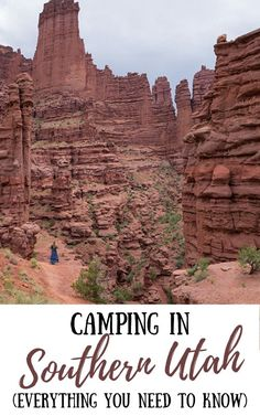 This must-read Southern Utah camping guide covers everything you need to know – from the best time to go to the best campgrounds, and more! #utahcamping #southernutah #utahtips #usatravel