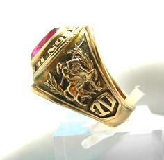 Vintage 10K Yellow Gold Class Ring Faux Ruby East Paterson High School 1970 s 7 | eBay